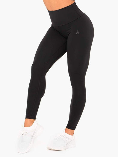NKD HIGH WAISTED LEGGINGS- BLACK (4512702267492)