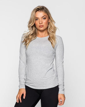 MYLA LONG SLEEVE- GREY MARL (5642625810594)