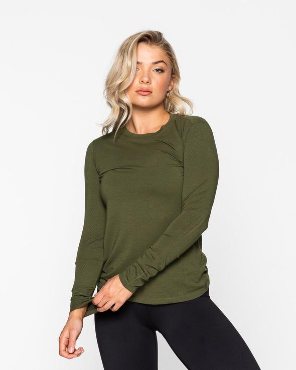 MYLA LONG SLEEVE- KHAKI (5642616832162)
