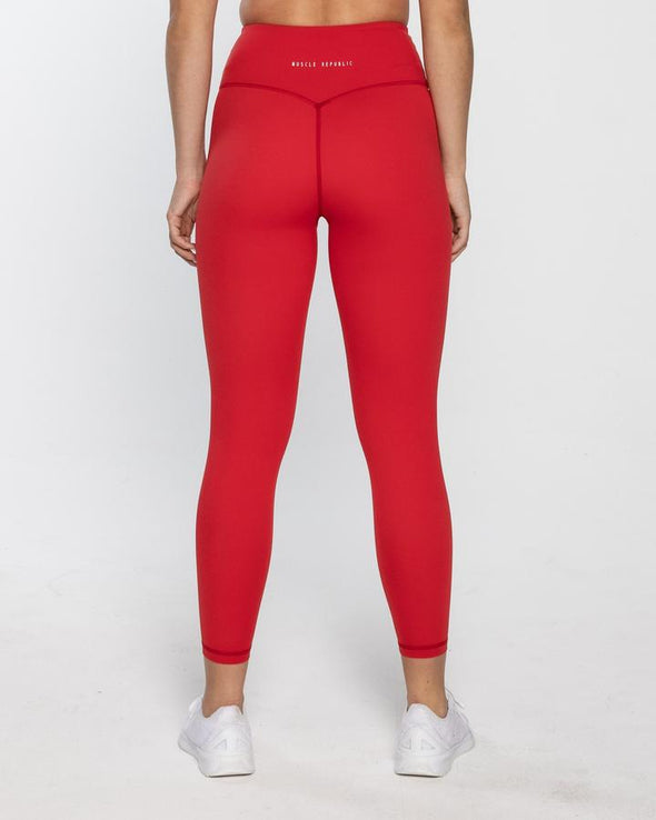HOMETOWN 7/8 LEGGINGS RED (6003916079266)