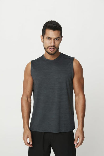 PHOENIX SLEEVELESS TANK- CHARCOAL BLACK (5935467069602)