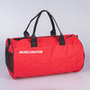 Muscle Nation Round Premium Gym Bag- Red/ White (4418506588260)