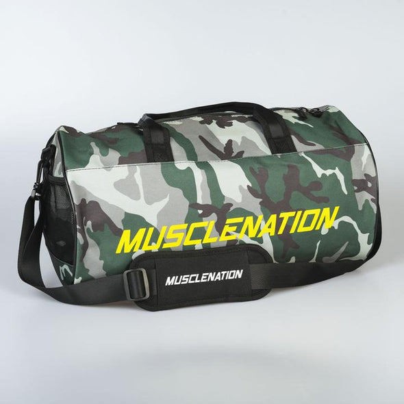 Muscle Nation Round Premium Gym Bag - Camo (4418504196196)