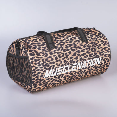 Muscle Nation Round Premium Gym Bag - Leopard (4397273743460)