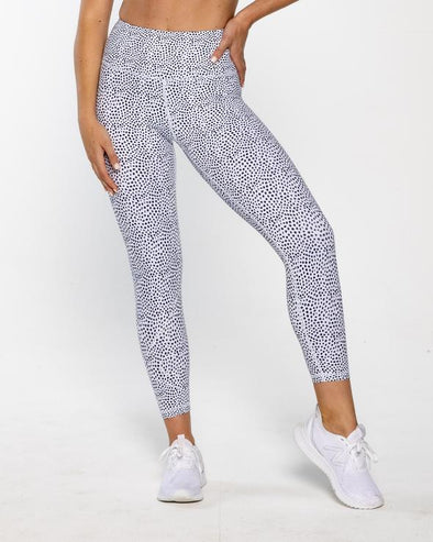 INSPIRE 7/8 LEGGINGS- WHITE SPECKLED (5840411656354)