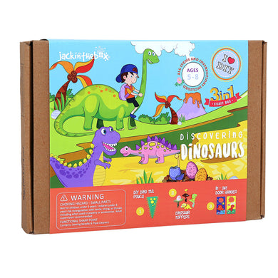 JackInTheBox 3-in 1 Discovering Dinosaurs