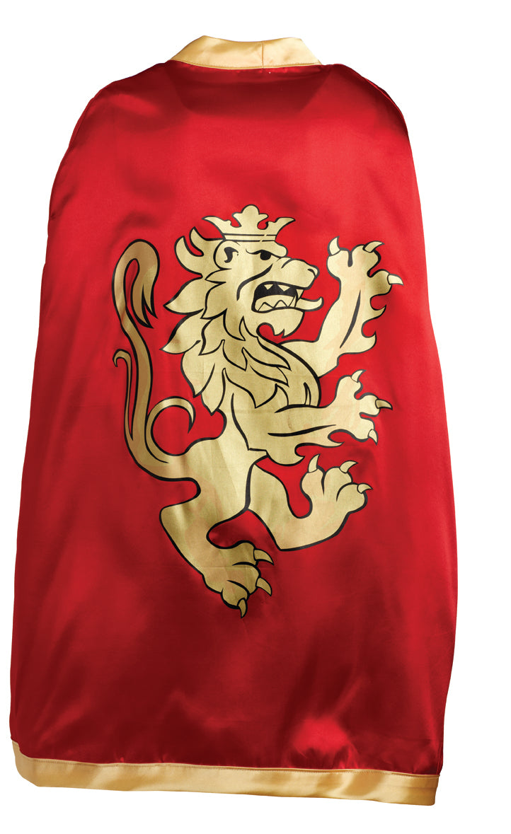 Liontouch Pretend-Play Dress Up Costume Noble Knight Cape - Red