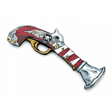 Liontouch Pretend-Play Foam Red Stripe Pirate Pistol