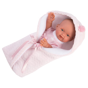 "Llorens 10.2"" Anatomically-correct Baby Doll Brielly with Swaddle Blanket"