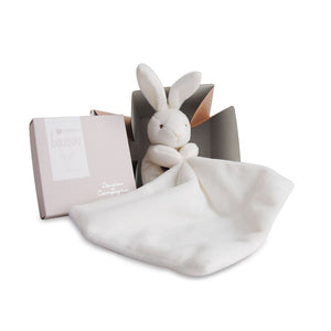 Small Bunny with Doudou Baby Blanket in Flower Box