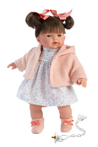 "Llorens 13"" Soft Body Crying Baby Doll Mia"