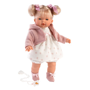 "Llorens 13"" Soft Body Crying Baby Doll Kaitlin -NEW!"