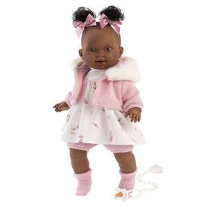 "Llorens 15"" Soft Body Crying Baby Doll Diara - NEW!"