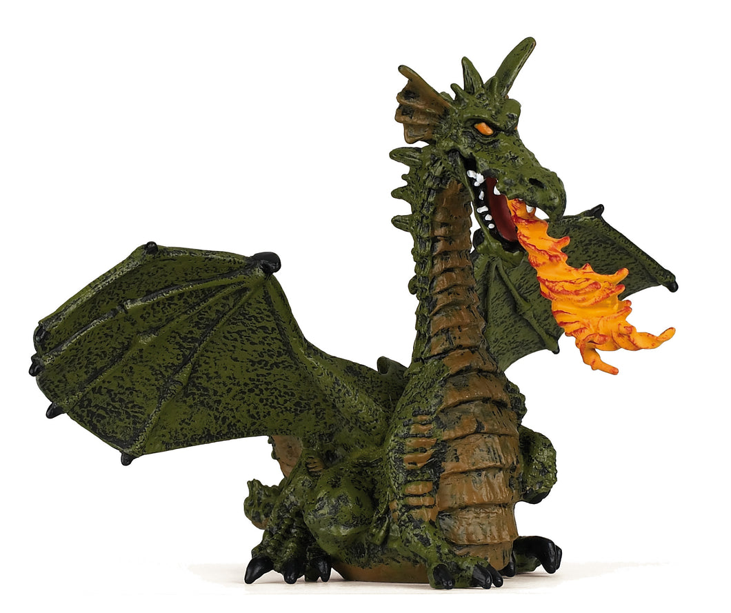 Papo France Green Winged Dragon With Flame