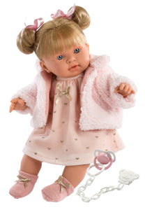 "Llorens 16.5"" Soft Body Crying Baby Doll Abby"