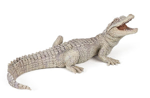 Papo France White Baby Crocodile