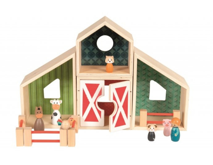 Egmont Toys Wood Farm Playset with Animals - NEW!