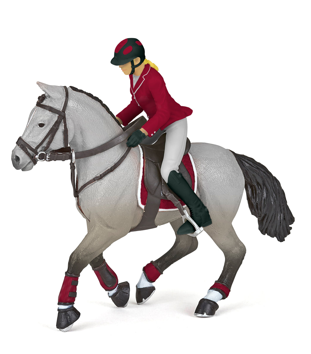 Papo France Competition Horse With Riding Girl - NEW!