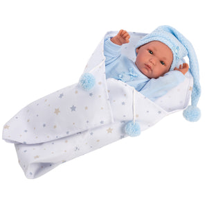 "Llorens 13.8"" Anatomically-correct Baby Doll Kayden With Blanket and Stocking Cap - NEW!"