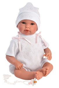 "Llorens 14"" Soft Body Baby Doll Avery with Hooded Bunny Jacket"