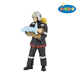 Papo France Fireman With Baby