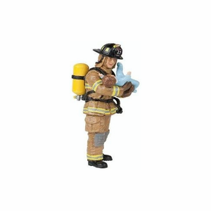 Papo France Yellow US Fireman With Baby