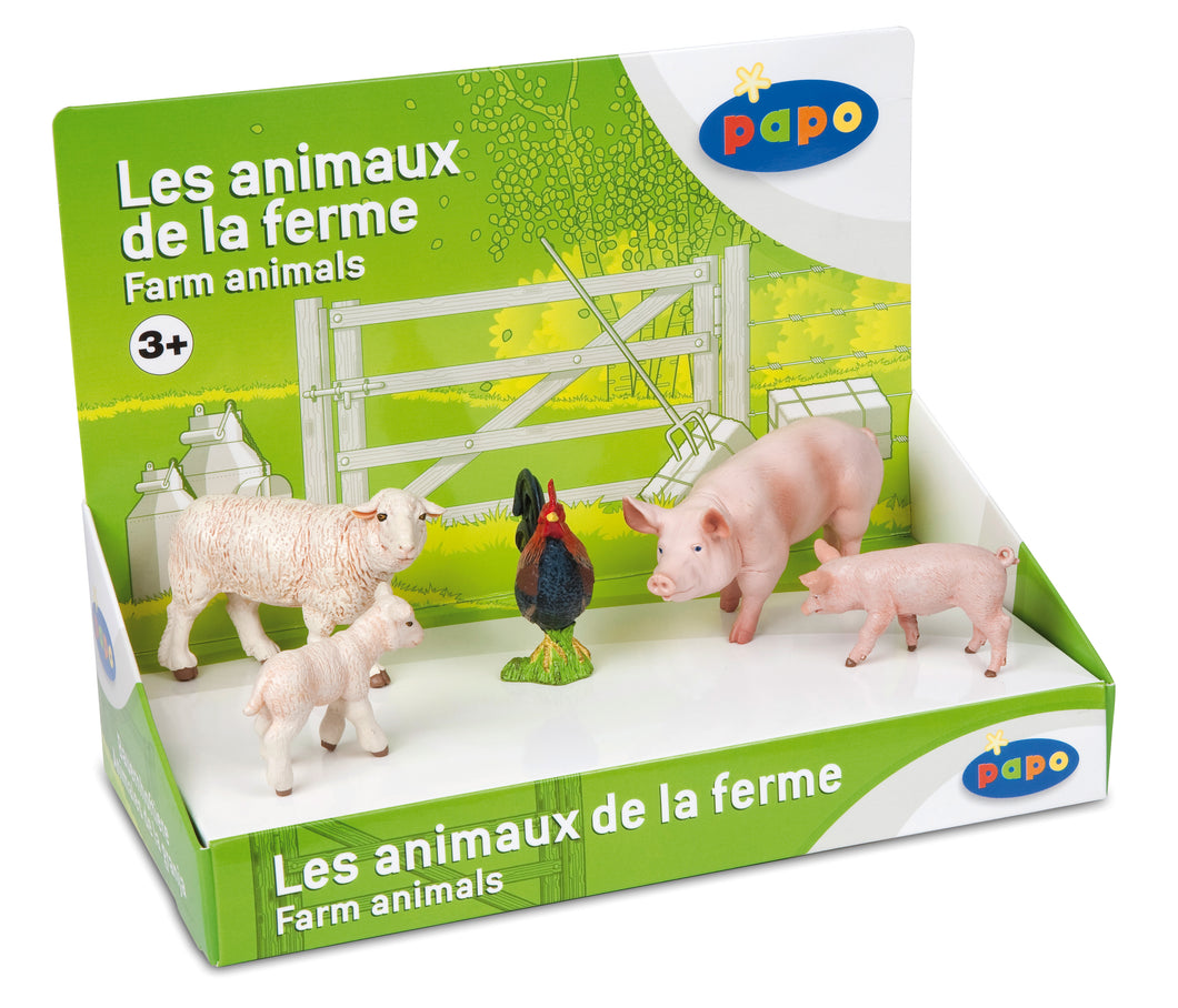 Papo France Display Box Farm Animals 1 (5 Fig.)