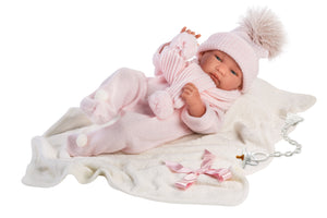 "Llorens 17"" Anatomically-correct Baby Doll Jill With Blanket"