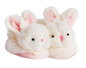 Doudou et Compagnie Rabbit - Baby Booties With Rattle Pink - Size 0/6 months