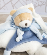 Load image into Gallery viewer, Doudou et Compagnie Blue Bear Blanket Plush Pal - NEW!
