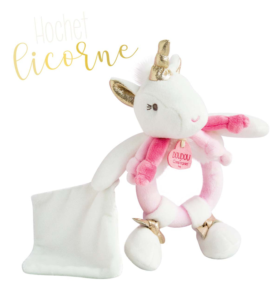 Doudou et Compagnie Unicorn - Rattle With Doudou - 6.7inches