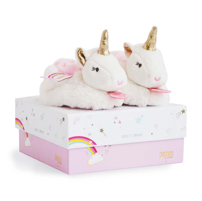 Doudou et Compagnie Lucie the Unicorn - Baby Booties With Rattle - 6-12 months