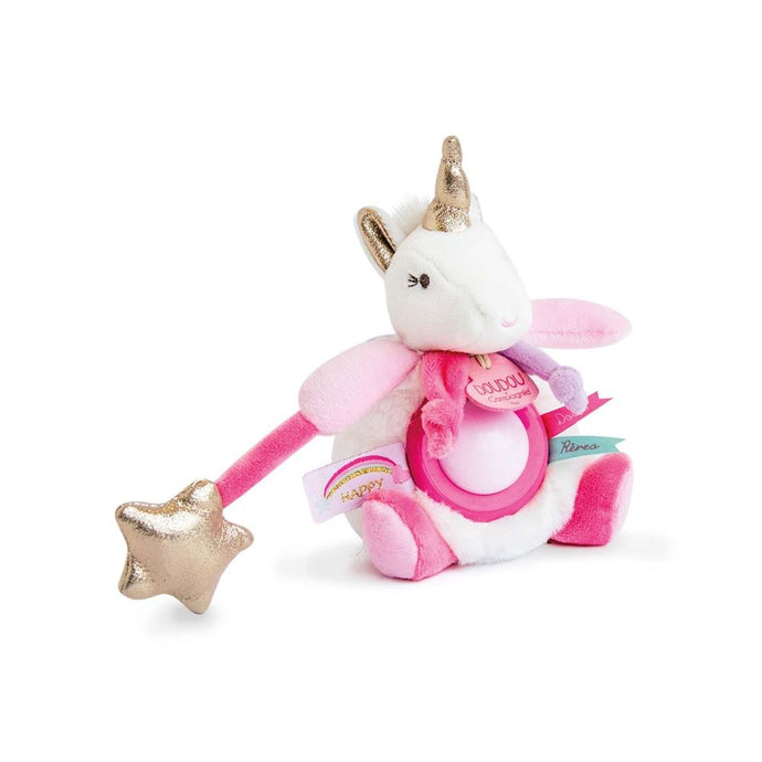 Doudou et Compagnie Lucie the Unicorn Plush Stuffed Animal with Nightlight