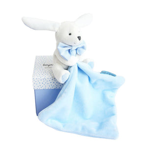 Doudou et Compagnie Hello Baby Blanket with Plush Stuffed Animal Bunny