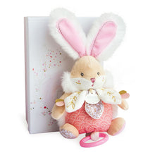 Load image into Gallery viewer, Doudou et Compagnie  Sugar Bunny Pink Musical Pull Toy - NEW
