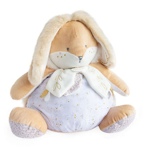 Doudou et Compagnie Sugar Bunny Plush White Pajama Bag - NEW