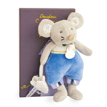 Load image into Gallery viewer, Doudou et Compagnie Tooth Fairy Friend Emile Blue Mouse