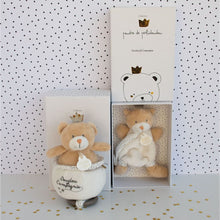 Load image into Gallery viewer, Doudou et Compagnie Little King Bear Pacifier Holder