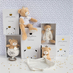 Doudou et Compagnie Little King Bear Pacifier Holder