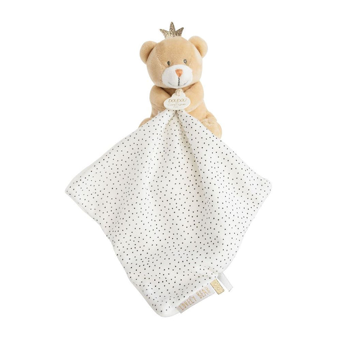 Little King Bear Plush Stuffed Animal with Doudou Baby Blanket - NEW!