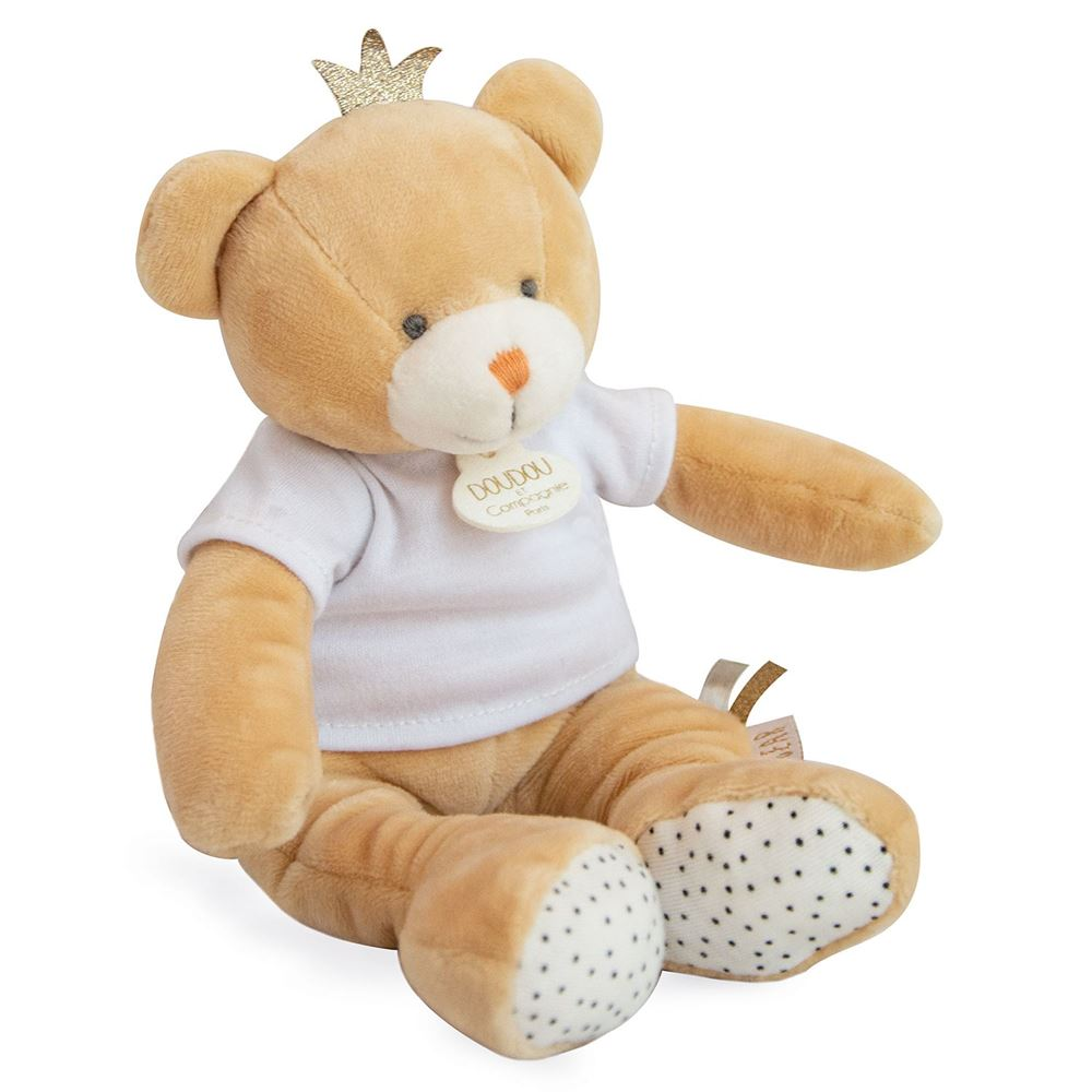 Doudou et Compagnie Little King Bear Plush Stuffed Animal - NEW!