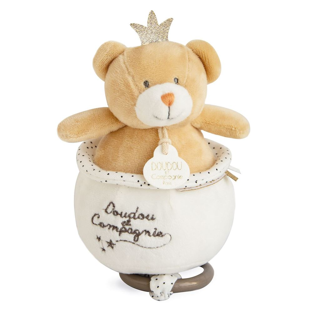 Doudou et Compagnie Little King Bear Musical Pull Toy