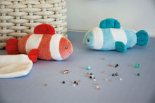 Load image into Gallery viewer, Doudou et Compagnie Under the Sea: Coral Clownfish Plush with Doudou blanket -NEW!