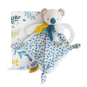 Doudou et Compagnie Yoka the Koala Doudou Blanket with Rattle - NEW!