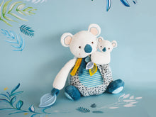 Load image into Gallery viewer, Doudou et Compagnie Yoka the Koala Plush Mama with Baby and Teething Ring - NEW!