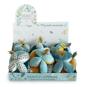 Doudou et Compagnie Yoka Sensory Balls with Rattle – Assortment of 3 - NEW!