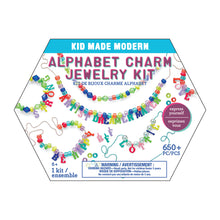 Load image into Gallery viewer, Kid Made Modern Alphabet Charm Jewelry Kit - NEW