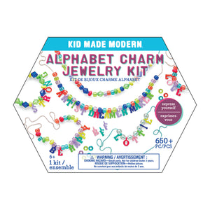 Kid Made Modern Alphabet Charm Jewelry Kit - NEW