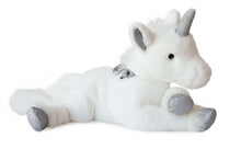Load image into Gallery viewer, Histoire D'ours Silver Glitter Unicorn Plush