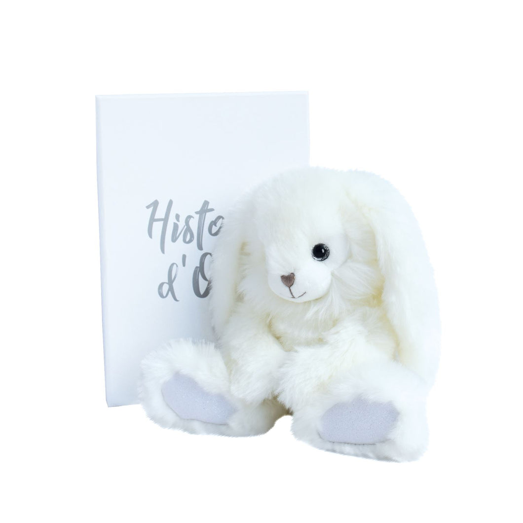 Histoire D'ours White Dapper Rabbit - 9.4inches